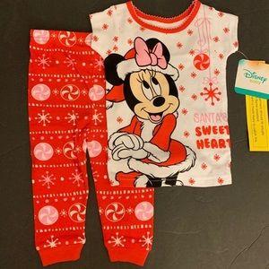 Disney Minnie Mouse pajamas for girls 12M NWT